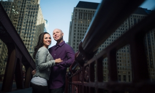 couple on bride in chicago