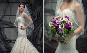 alyssa high fashion on wedding day