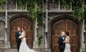 angela and kyle bond chapel door