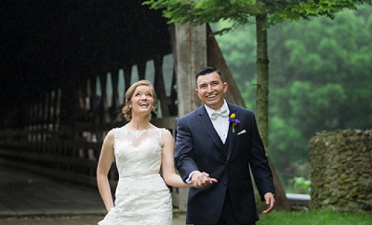 jessica and jeff walking in the rain