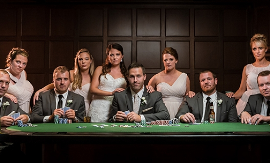 courtney and matt's poker bridal party