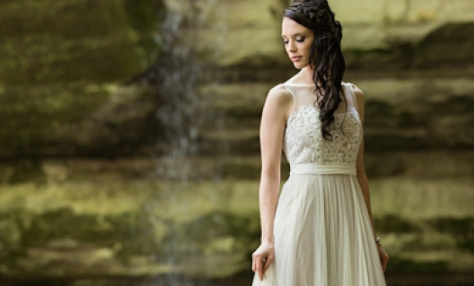 faith by waterfall