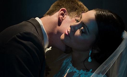 kiss under lights
